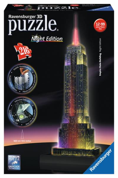 Puzzle Ravensburger Empire State Building Night Edition 3D 216 P
