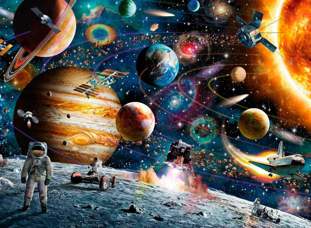 Puzzle Ravensburger En el Espacio XXL de 150 Piezas