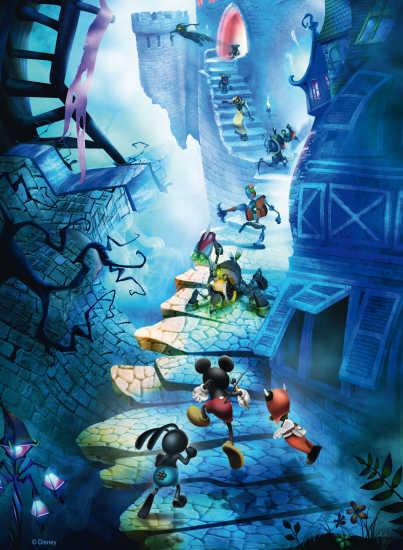 Puzzle Ravensburger Epic Mickey de 500 Piezas