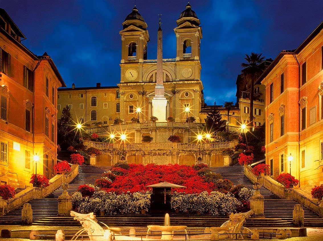 Puzzle Ravensburger Escalera de Plaza de España, Roma 1500 Pieza