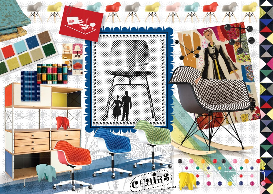 Puzzle Ravensburger Espectro del Diseño de Eames de 1000 Piezas