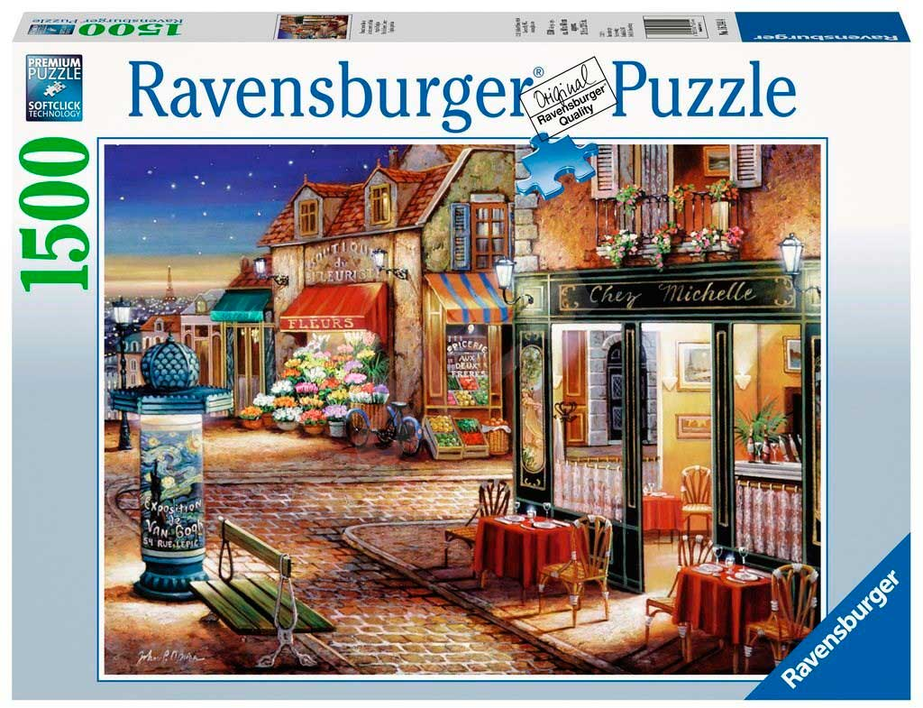 Puzzle Ravensburger Esquina Parisina de 1500 Piezas