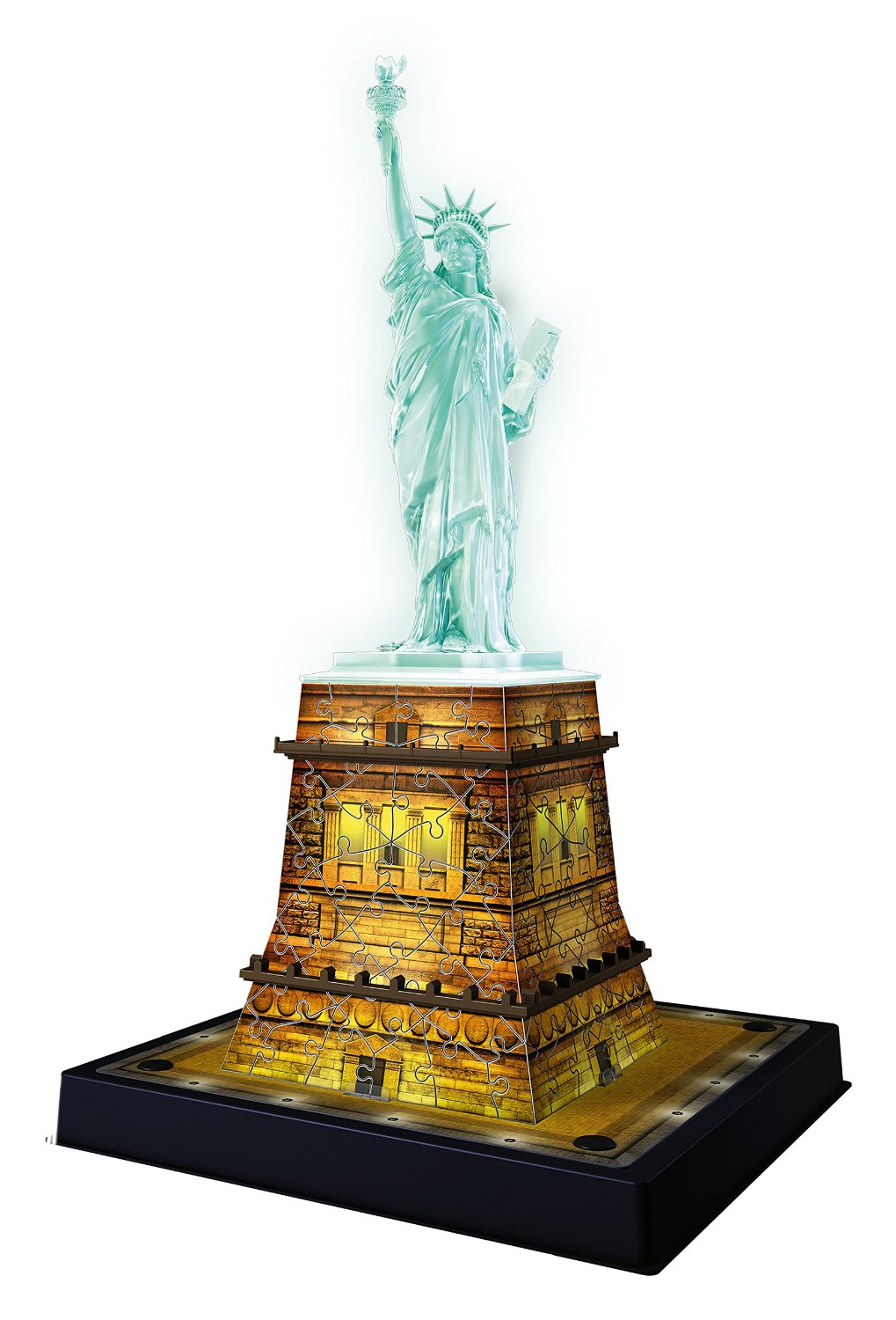 Puzzle Ravensburger Estatua de la Libertad Night Edition 3D 108