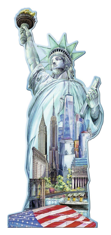 Puzzle Ravensburger Estatua de la Libertad, Puzzle Silueta de 10