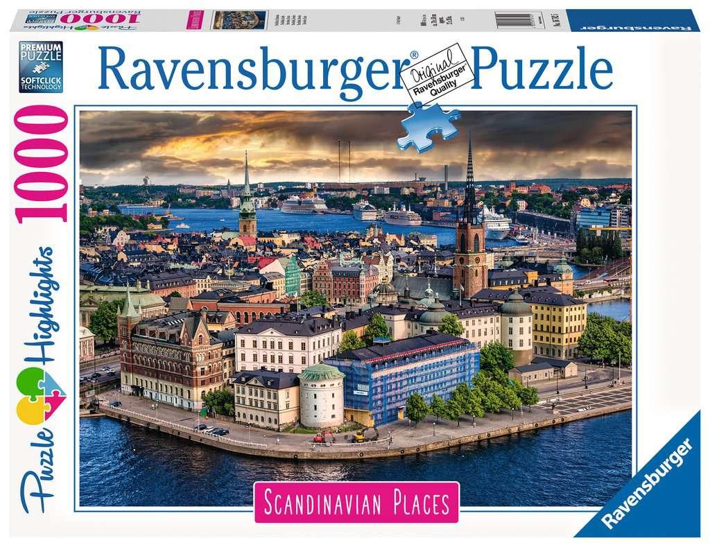 Puzzle Ravensburger Estocolmo, Suecia de 1000 Piezas