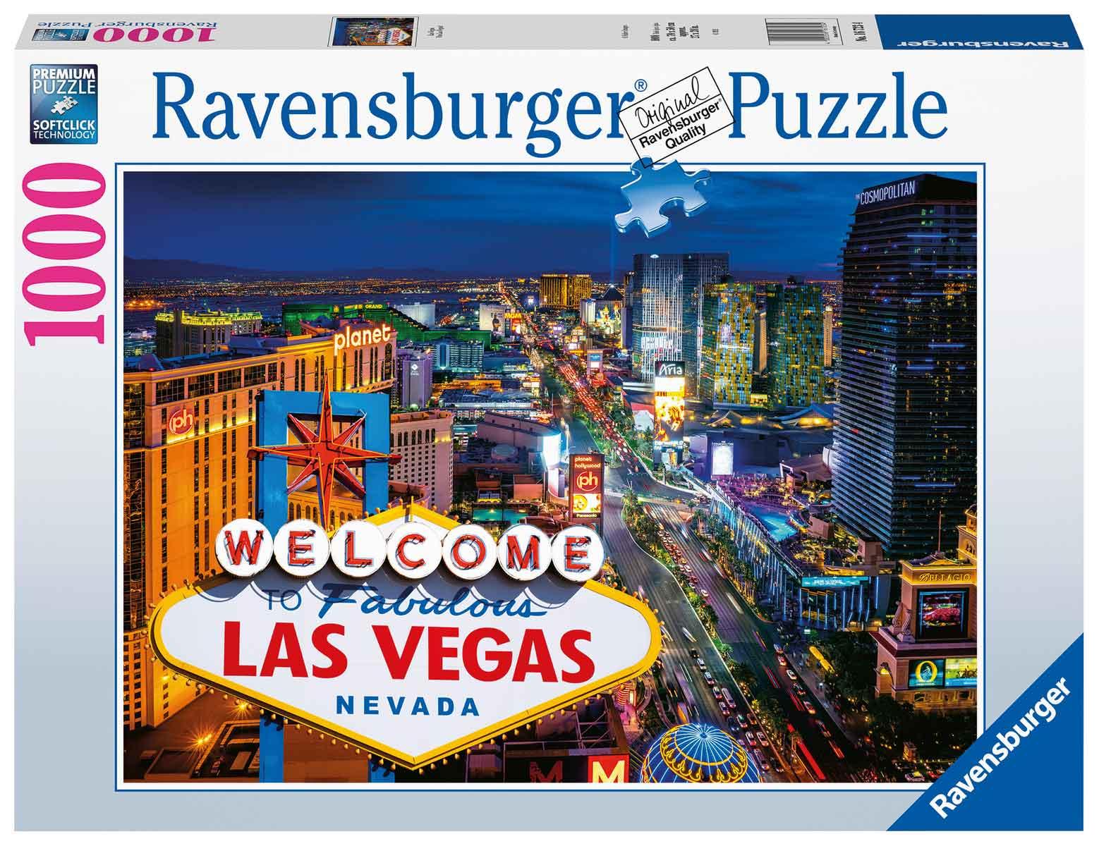 Puzzle Ravensburger Viva Las Vegas de 1000 Piezas