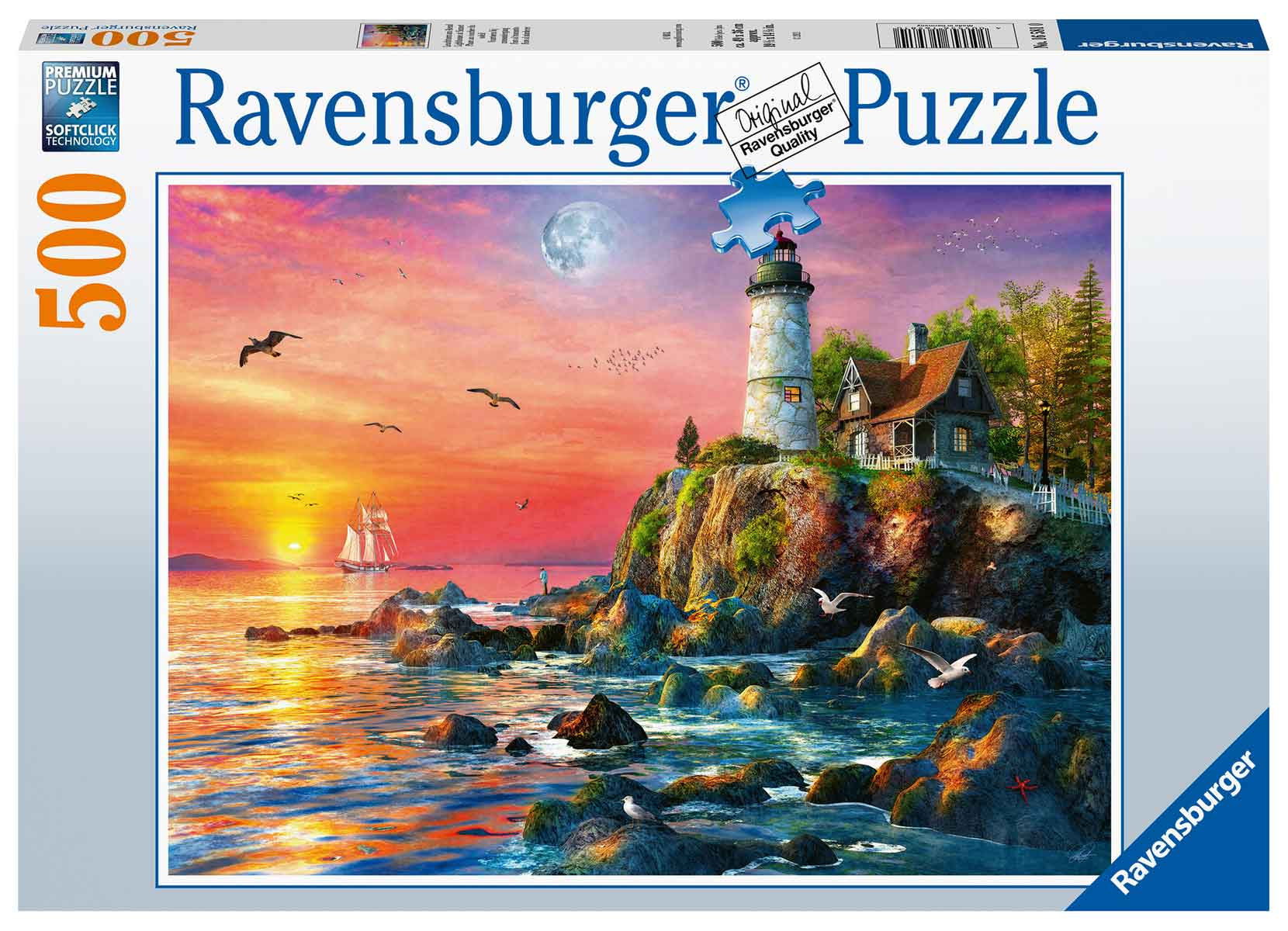 Puzzle Ravensburger Faro al Atardecer de 500 Piezas
