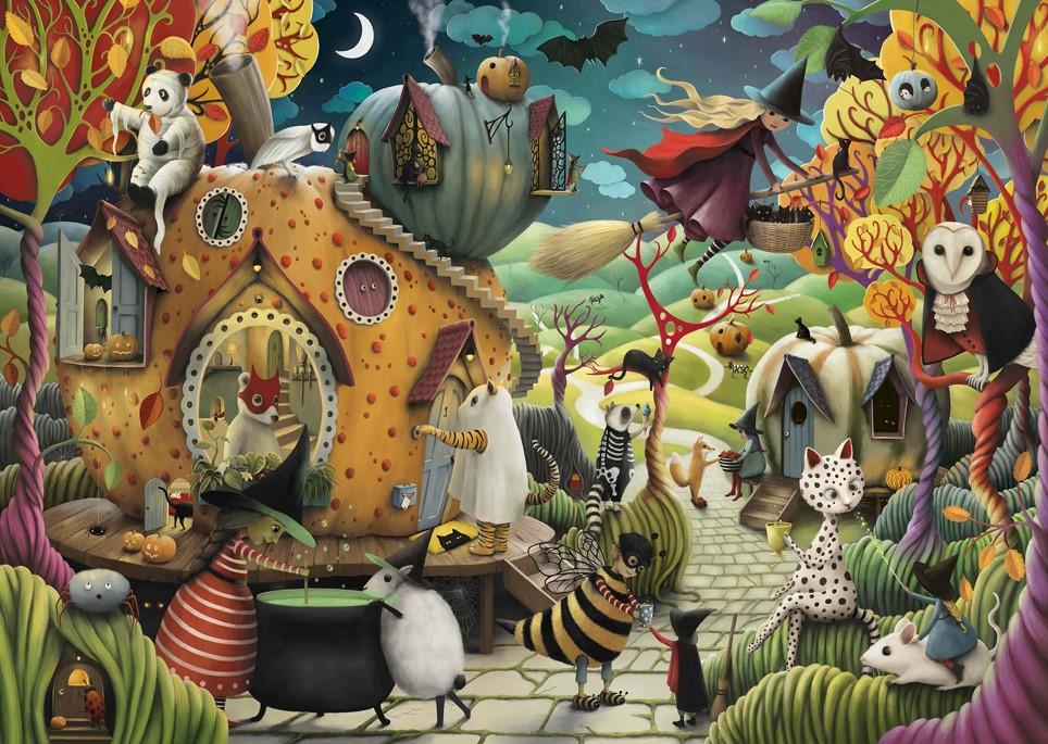 Puzzle Ravensburger Feliz Halloween de 1000 Piezas