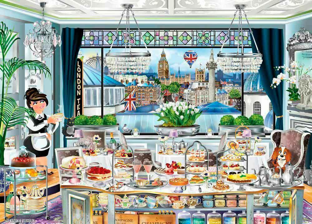 Puzzle Ravensburger Fiesta del Té en Londres 1000 Piezas