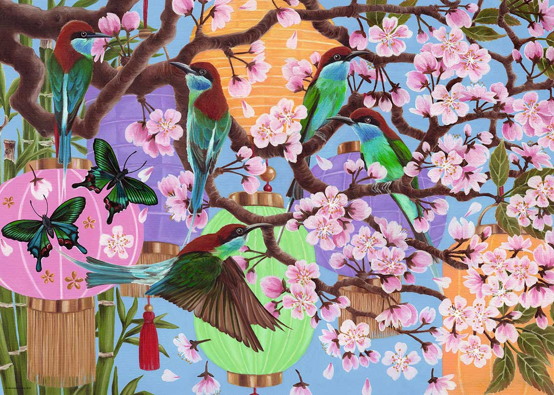 Puzzle Ravensburger Flores de Cerezo  de 1000 Piezas