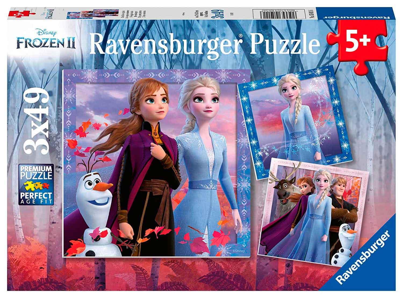 Puzzle Ravensburger Frozen 2, de 3x49 Piezas
