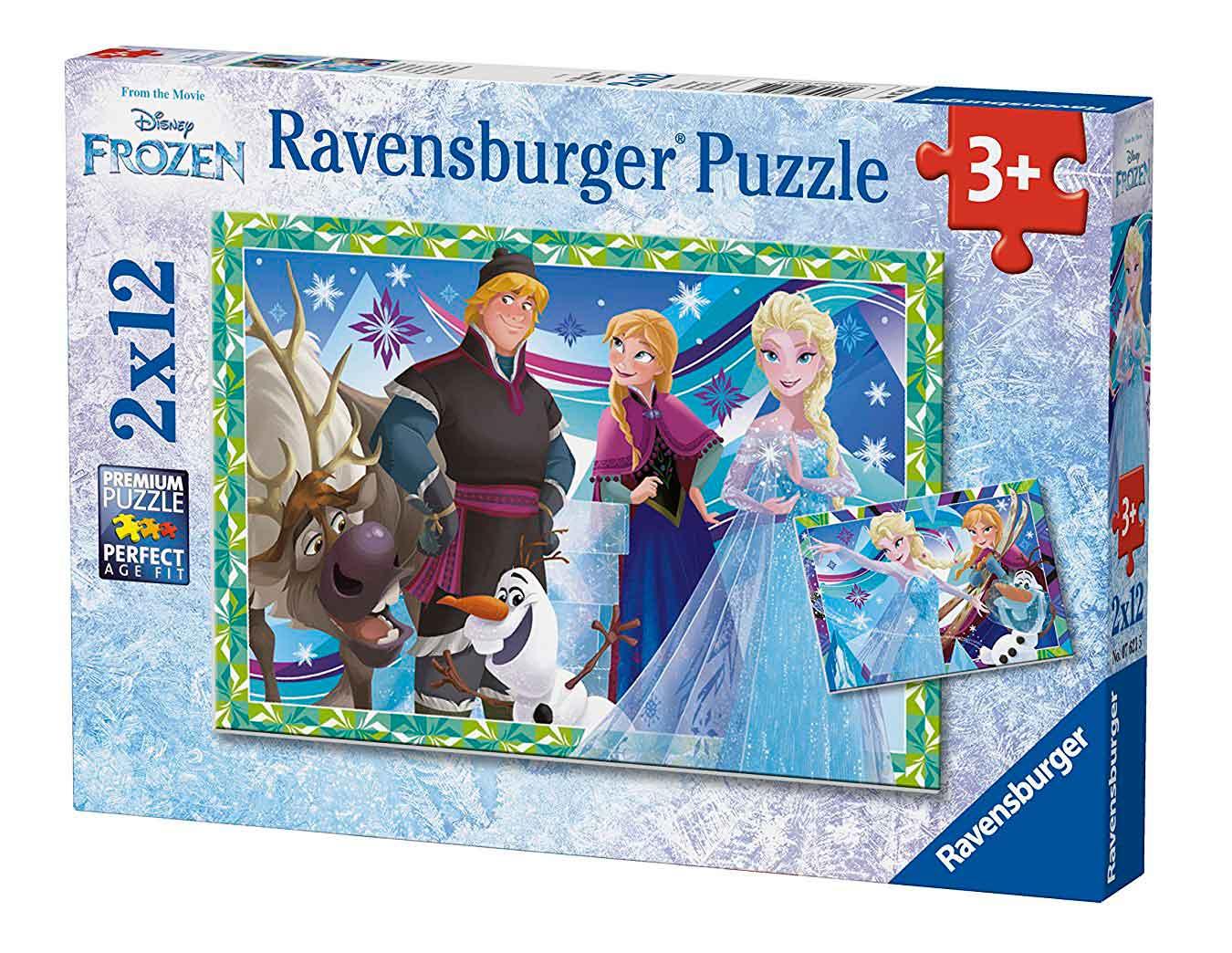 Puzzle Ravensburger Frozen de 2x12 Piezas