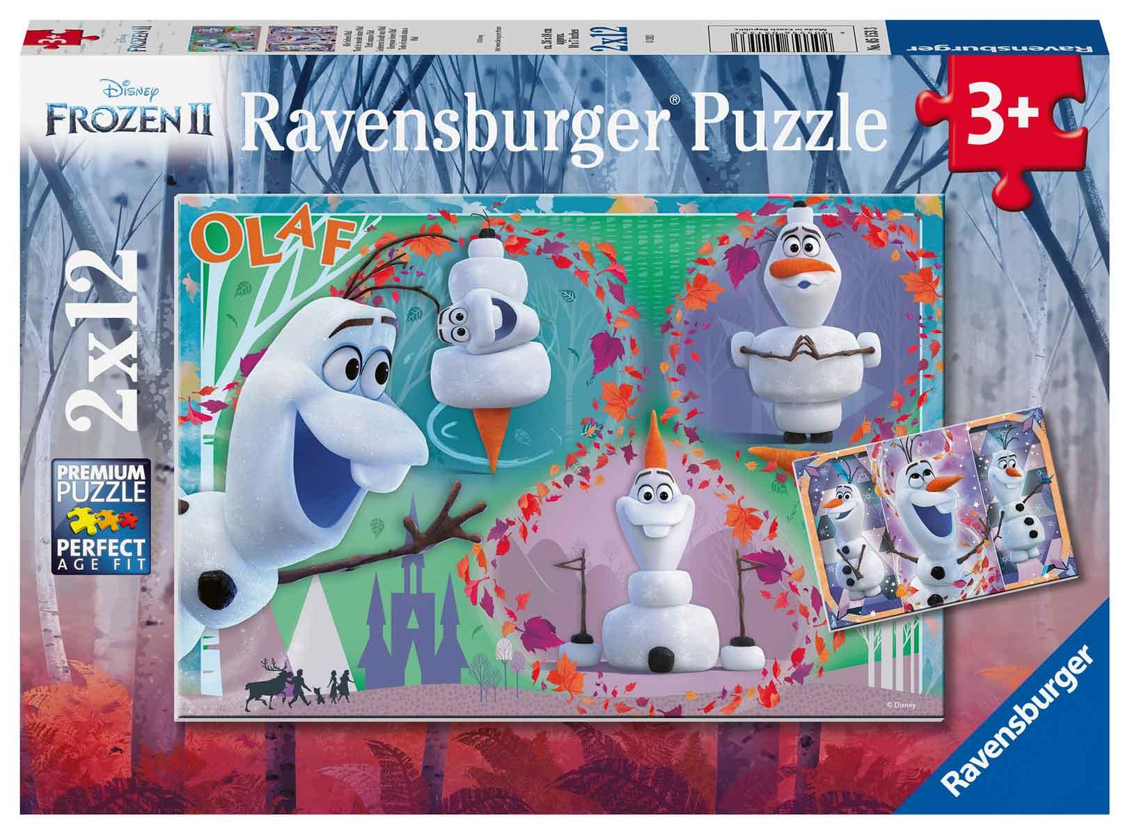 Puzzle Ravensburger Frozen Olaf de 2x12 Piezas