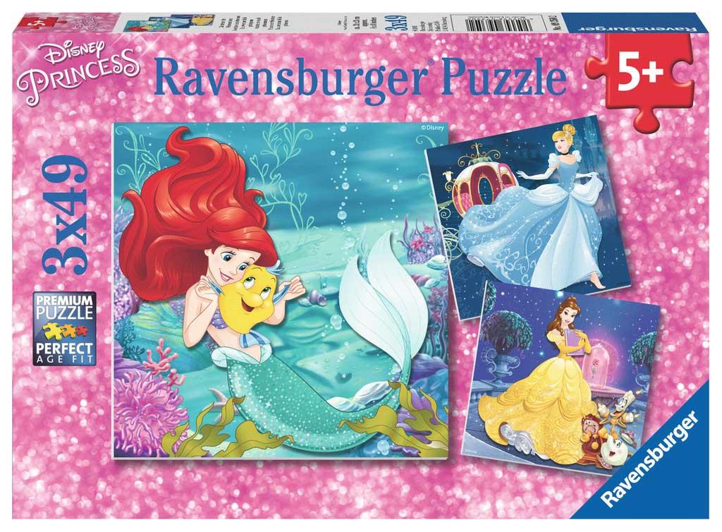 Puzzle Ravensburger Princesas Disney 3x49 Piezas