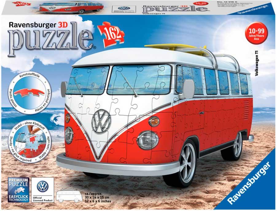 Puzzle Ravensburger Furgoneta Volkswagen 3D 162 Pieza
