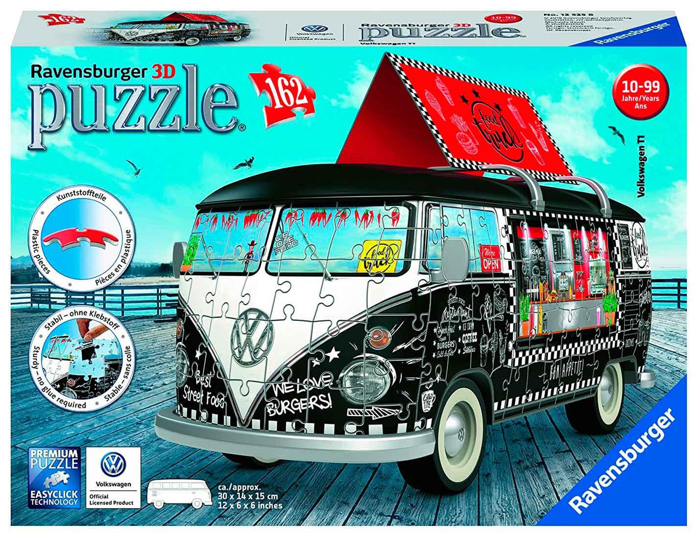 Puzzle Ravensburger Furgoneta Volkswagen Food Truck 3D 162 P.