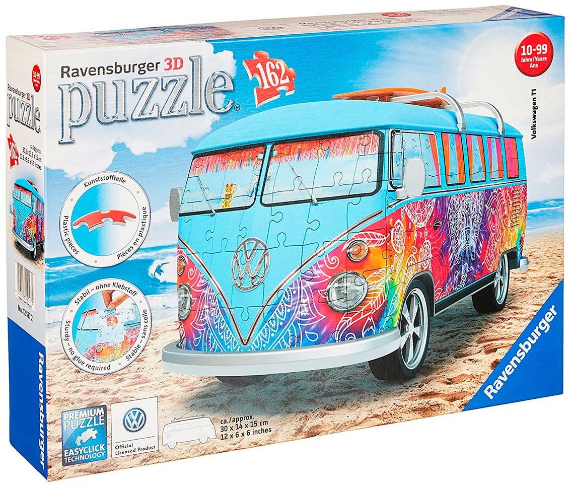 comprar puzzle ravensburger furgoneta volkswagen hippi 3d. Black Bedroom Furniture Sets. Home Design Ideas