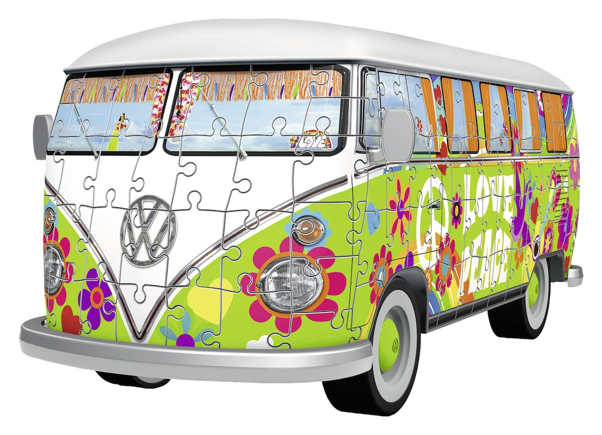 Puzzle Ravensburger Furgoneta Volkswagen Hippie Style 3D 162 P.