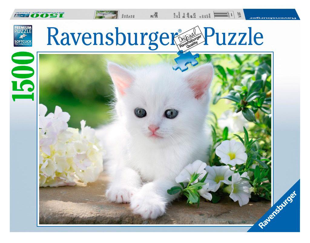 Puzzle Ravensburger Gatito Blanco de 1500 Piezas