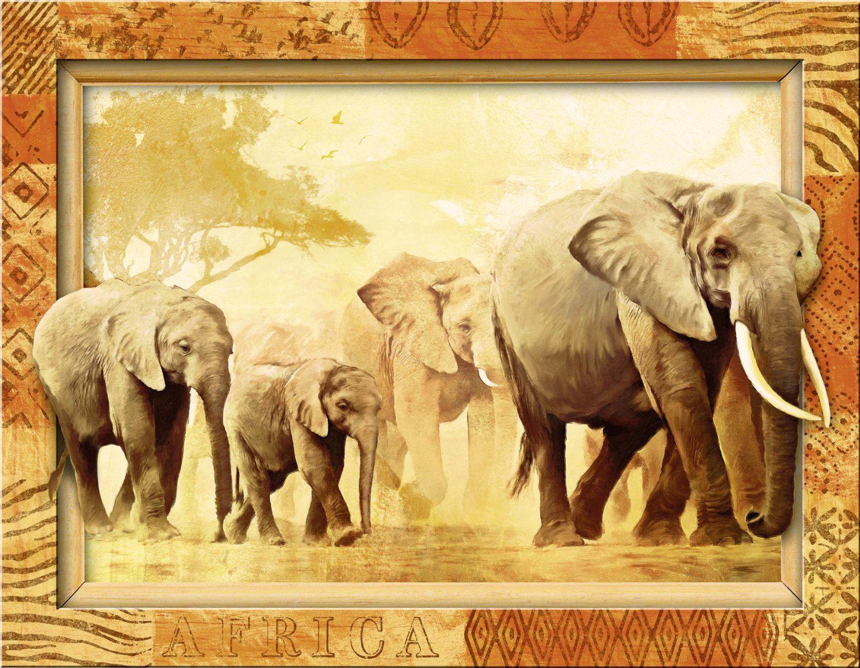 Puzzle Ravensburger Gigantes de Africa (Marco Incorporado) de 50