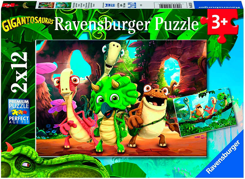 Puzzle Ravensburger Gigantosaurus de 2x12 Piezas