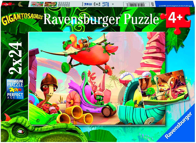 Puzzle Ravensburger Gigantosaurus de 2x24 Piezas