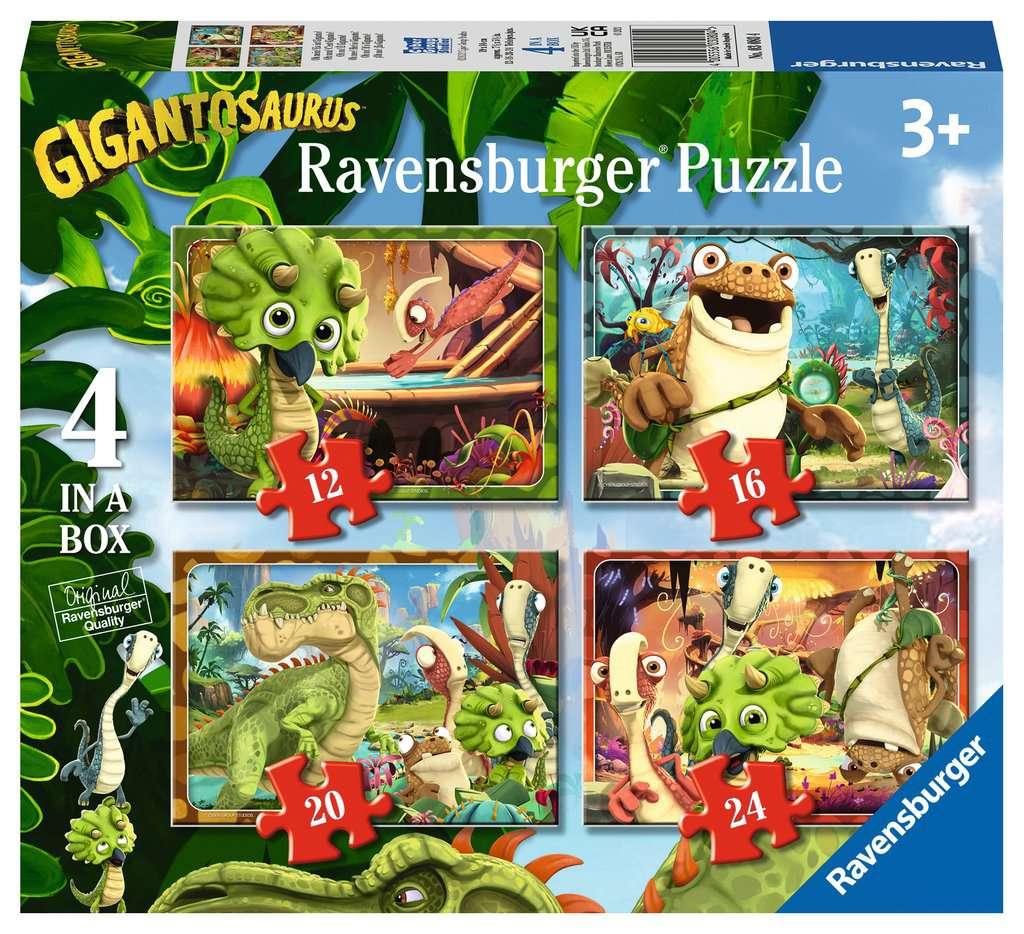 Puzzle Ravensburger Gigantosaurus Progresivo de 12+16+20+24 Pzs