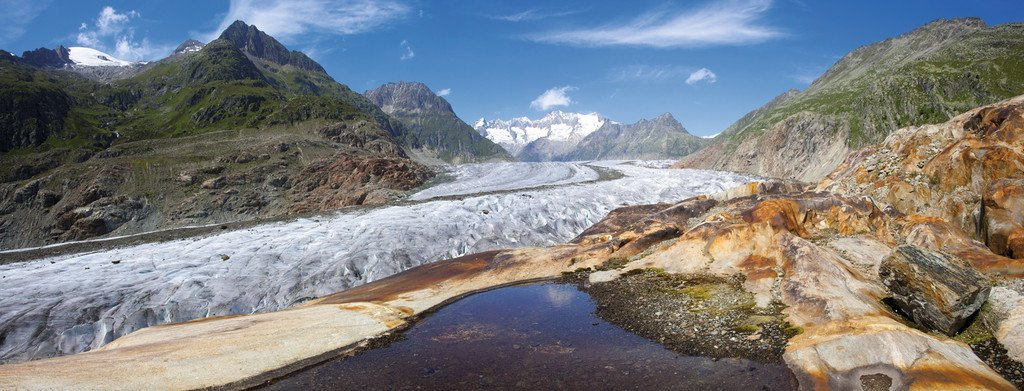 Puzzle Ravensburger Glaciar de Aletsch, Suiza de 1000 Piezas