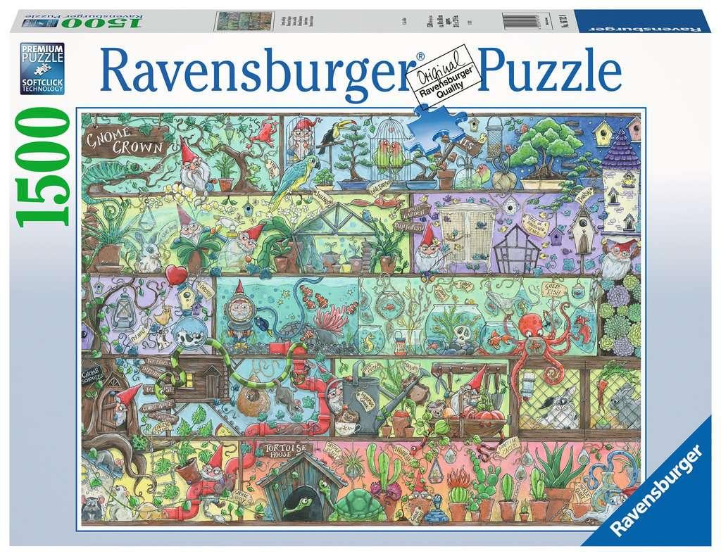 Puzzle Ravensburger Gnomo en el Estante de 1500 Piezas