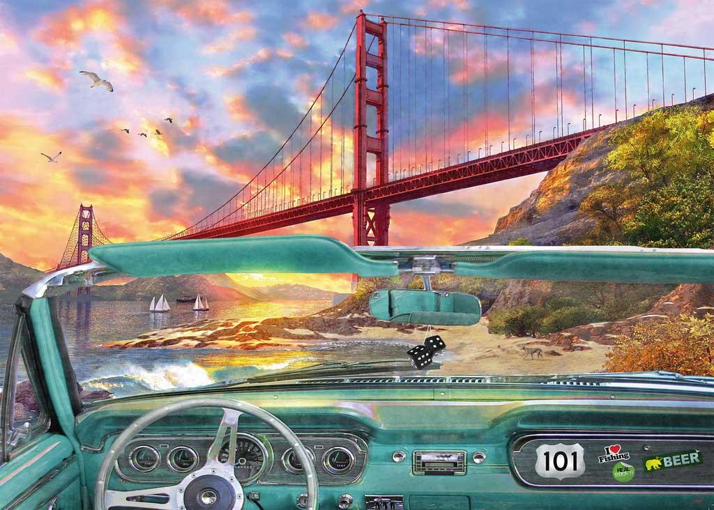 Puzzle Ravensburger Golden Gate de 1000 Piezas