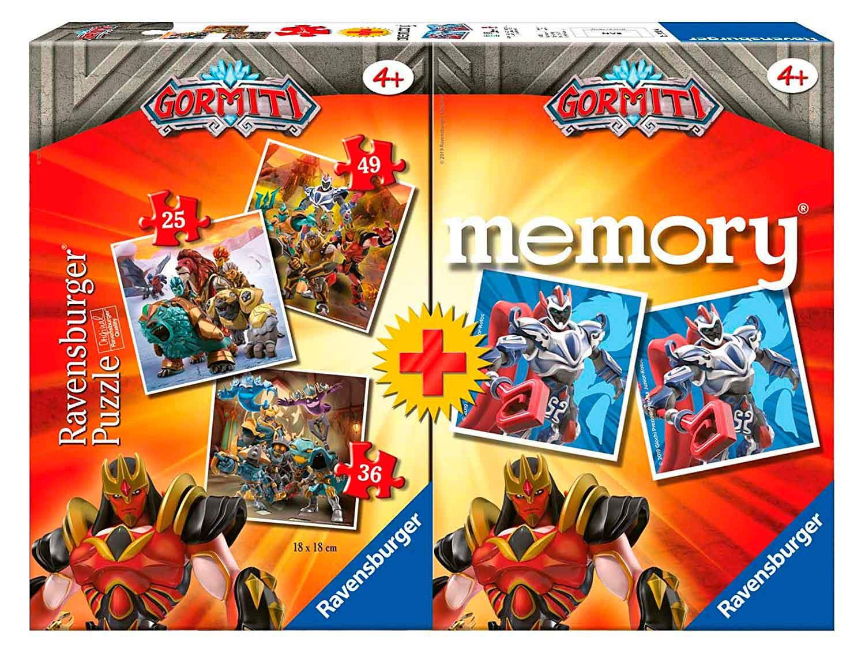 Puzzle Ravensburger Gormiti 25+36+49 + Memory