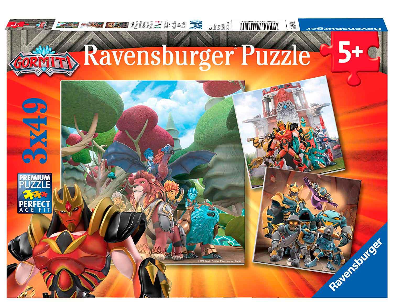 Puzzle Ravensburger Gormiti de 3x49 Piezas