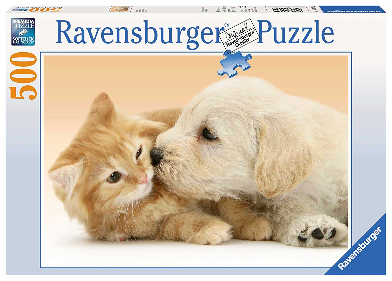 Puzzle Ravensburger Gran Beso Animal de 500 Piezas