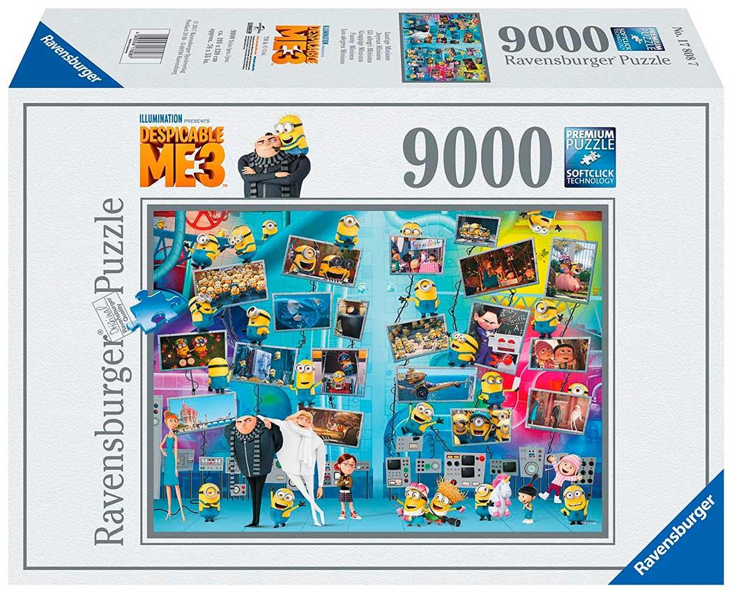 Puzzle Ravensburger Alegres Minions, Villano Favorito 9000 Pieza
