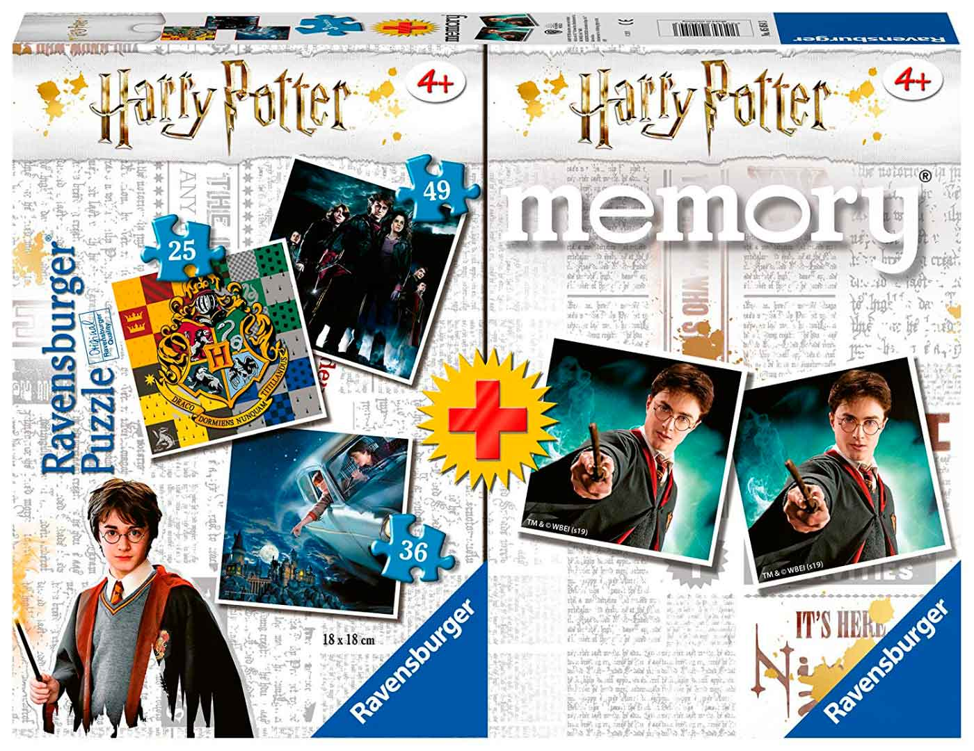 Puzzle Ravensburger Harry Potter 25+36+49 + Memory