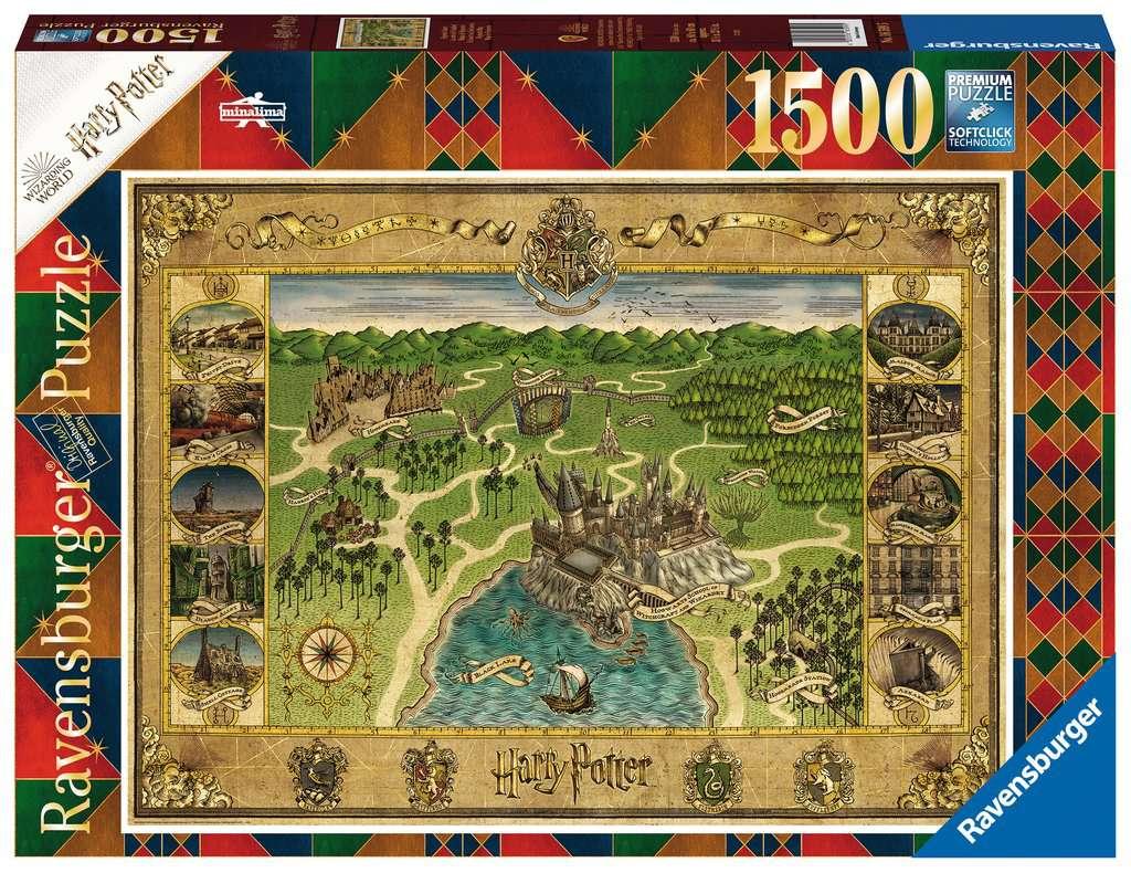 Puzzle Ravensburger Harry Potter Mapa de Hogwarts de 1500 Pzs