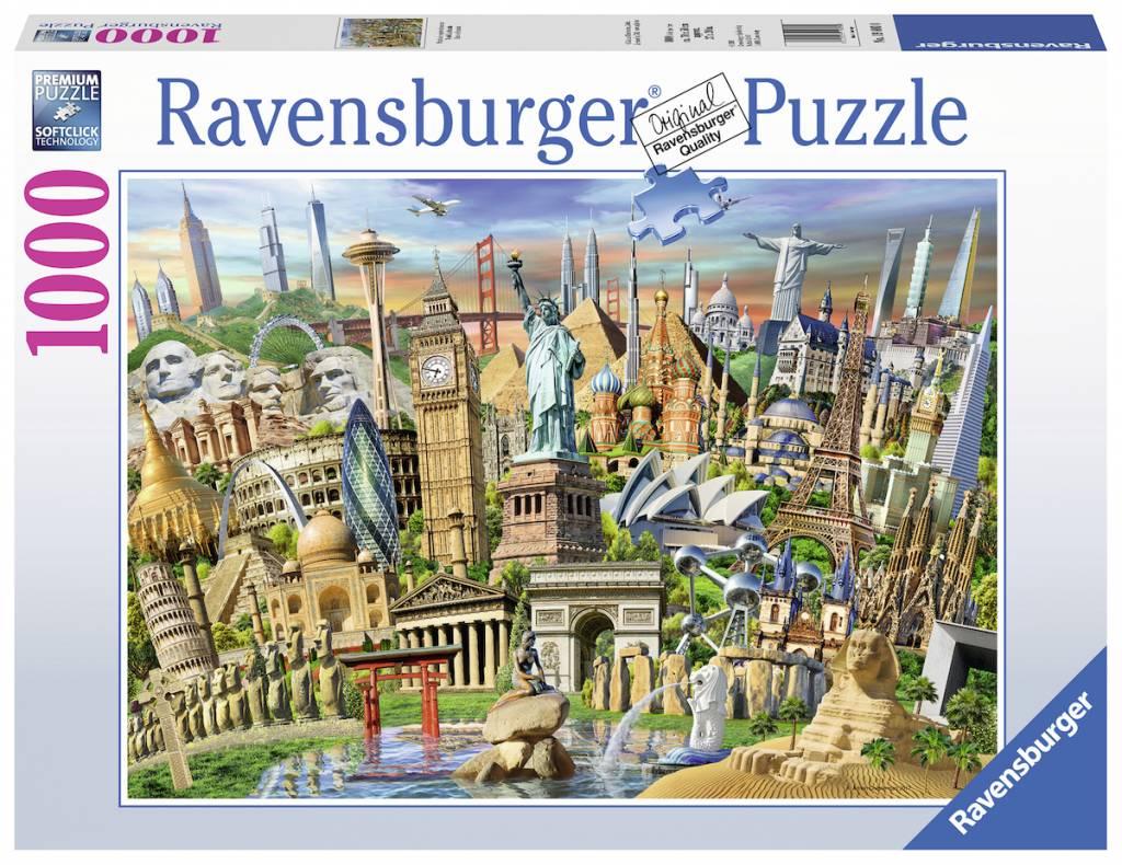 Puzzle Ravensburger Hitos del Mundo de 1000 Piezas