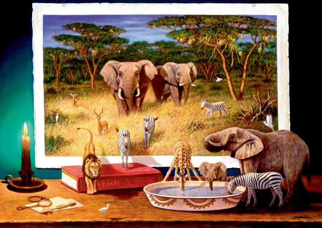 Puzzle Ravensburger Huéspedes Nocturos de Africa de 1000 Piezas