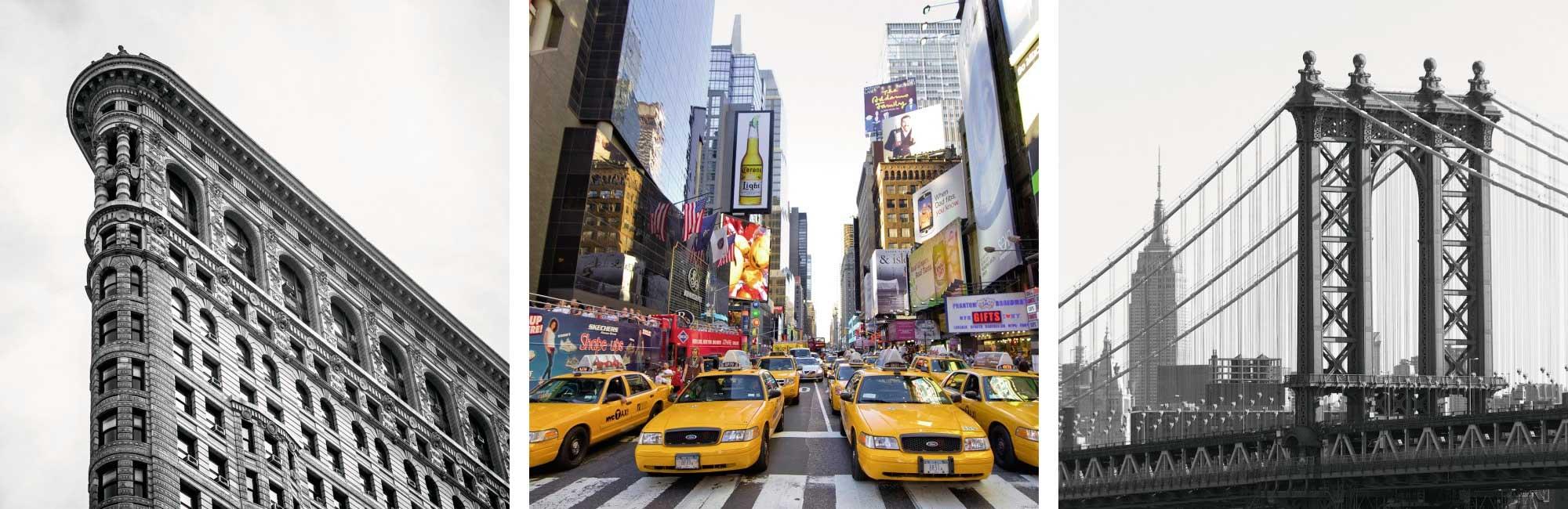 Puzzle Ravensburger Impresiones de Nueva York 3 x 500 Piezas