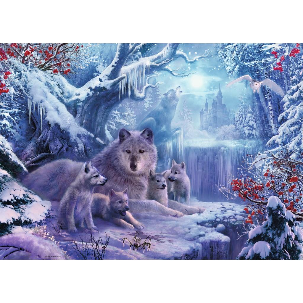 Puzzle Ravensburger Invierno de Lobos 1000 Piezas