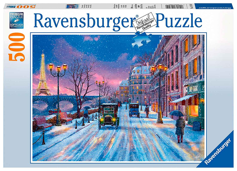 Puzzle Ravensburger Invierno en París de 500 Piezas