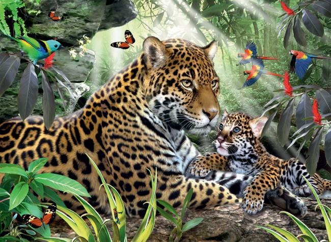 Puzzle Ravensburger Jaguares de 500 Piezas