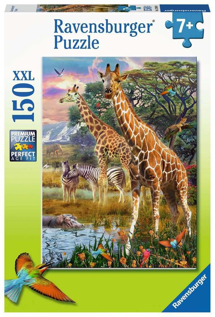 Puzzle Ravensburger Jirafas en África XXL de 150 Piezas