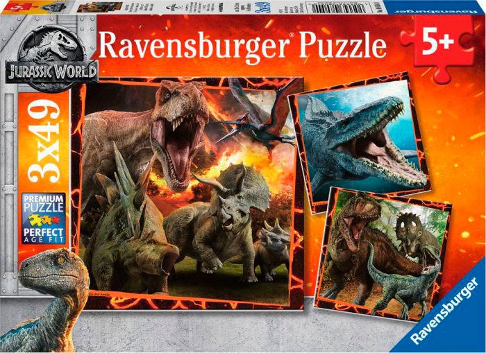 Puzzle Ravensburger Jurassic World, de 3x49 Piezas