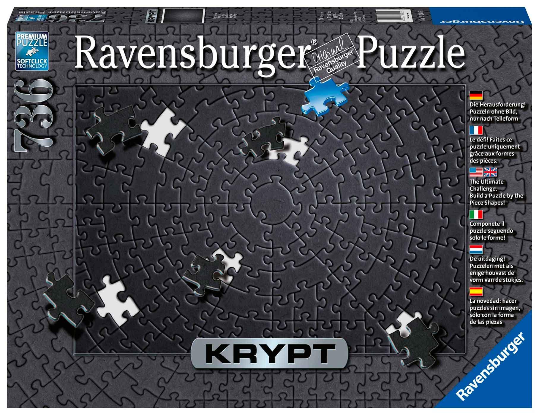 Puzzle Ravensburger Krypt Negro de 736 Piezas