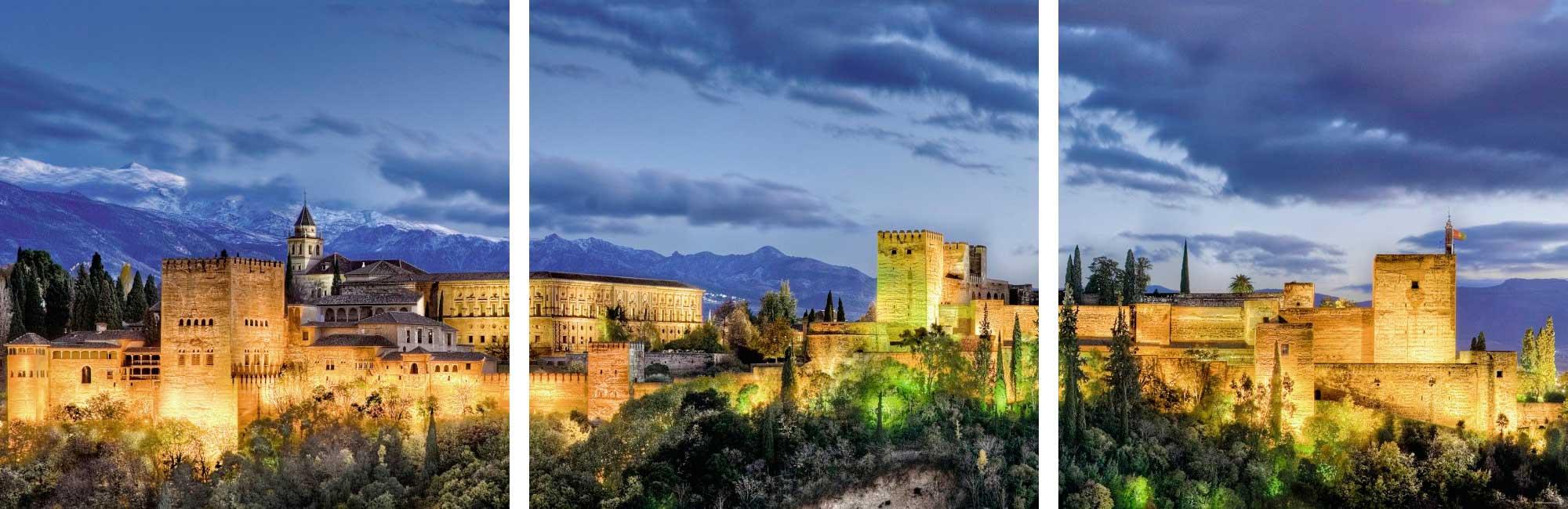Puzzle Ravensburger La Alhambra al Atardecer 3 x 500 Piezas