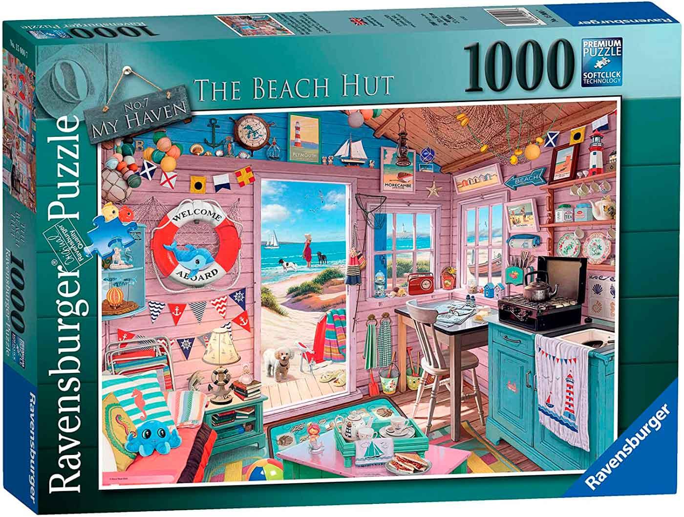 Puzzle Ravensburger La Cabaña de la Playa de 1000 Piezas