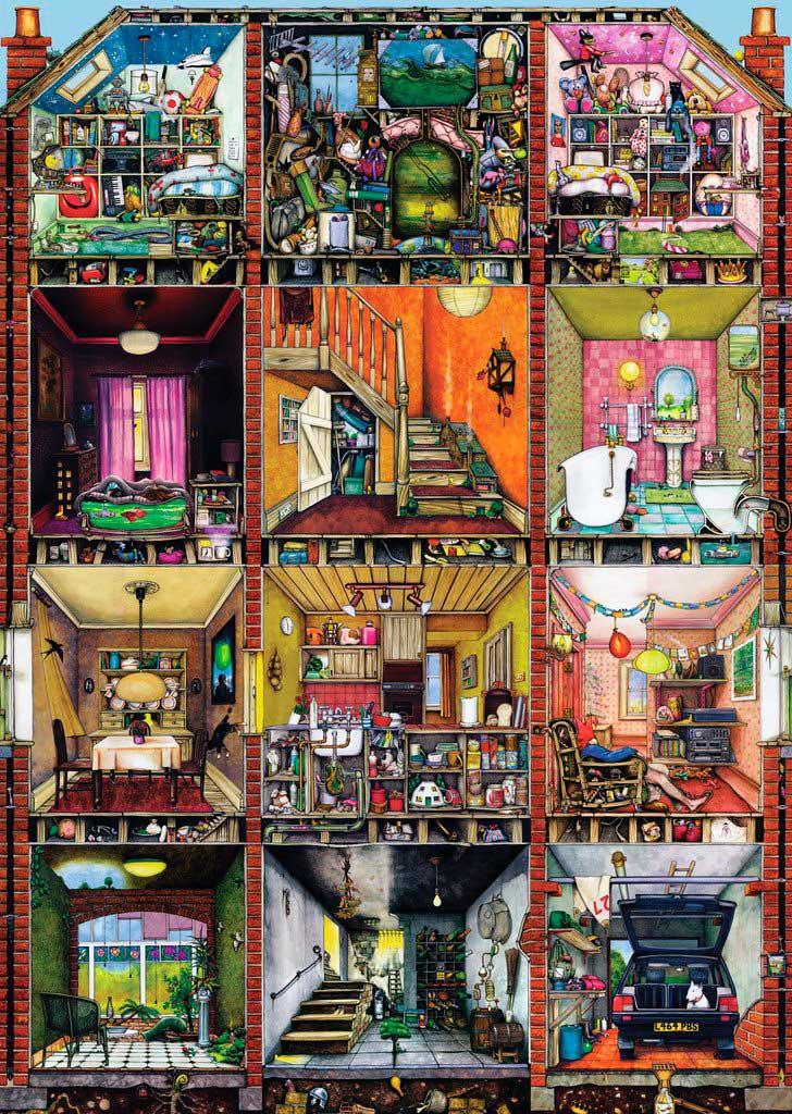 Puzzle Ravensburger La Casa Extraña 1000 Piezas