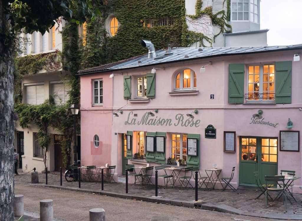 Puzzle Ravensburger La Casa Rosa de París de 200 Piezas