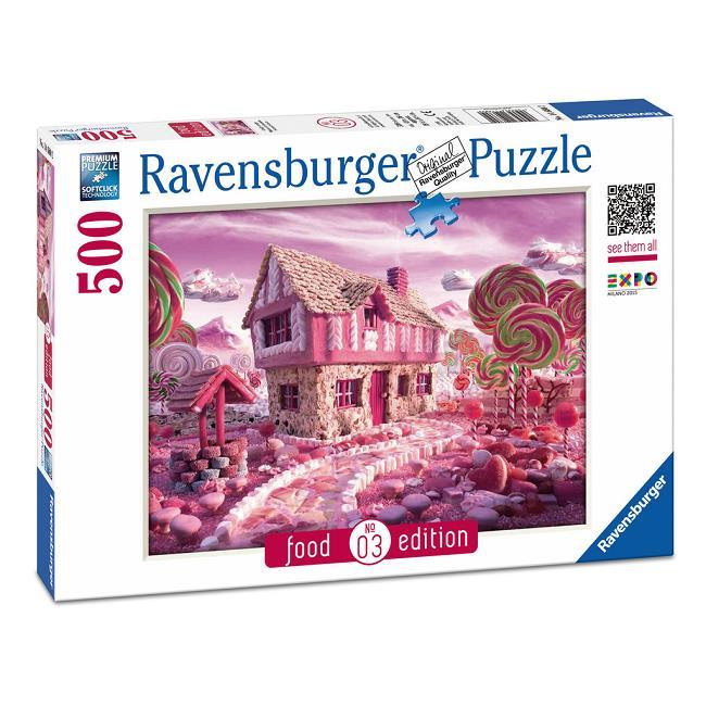 Puzzle Ravensburger La Casita de Golosinas, Food Edition de 500